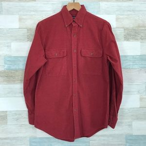 Chamois Flannel Shirt Red Lands End